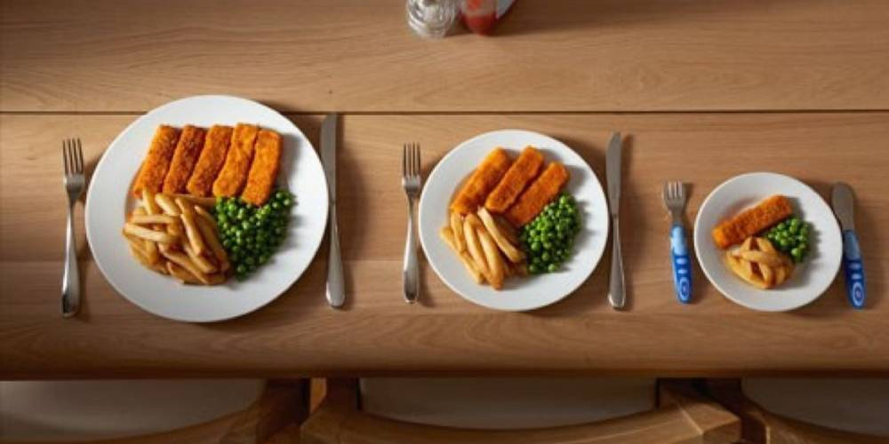 Small portion size of food for weight loss